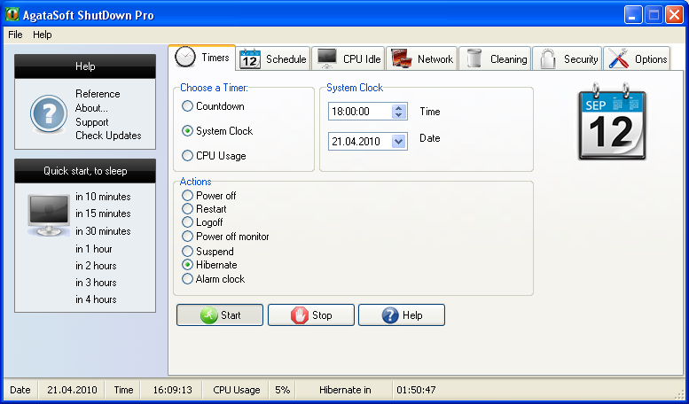 Click to view AgataSoft ShutDown Pro 3.2 screenshot